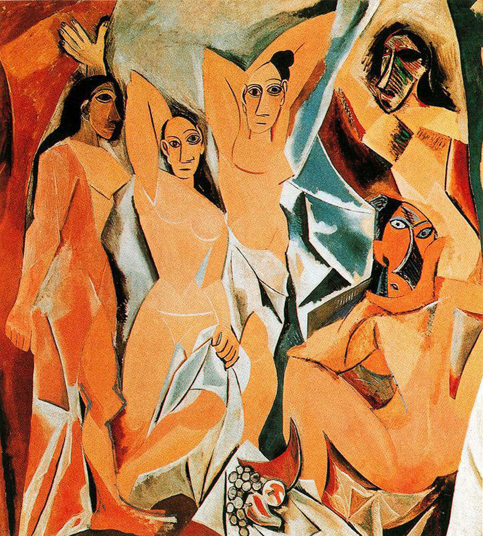distinguishing the art of pablo picasso from the others in les demoiselles