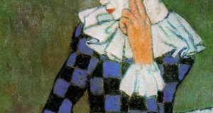 Пабло Пикассо «Облокотившийся Арлекин»