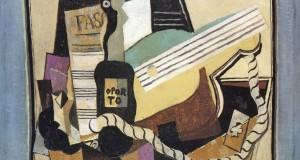 Пабло Пикассо «Ноты, бутылка портвейна, гитара, игральные карты»