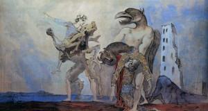 Пабло Пикассо «Мертвый Минотавр в костюме Арлекина»