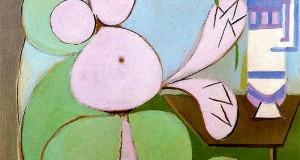 Пабло Пикассо «Женщина с букетом»