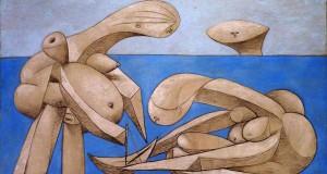 Пабло Пикассо «Купальщицы с игрушечной лодкой»