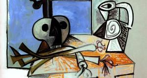 Пабло Пикассо «Натюрморт - череп, кувшин и лук-порей»