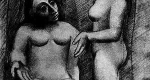 Пабло Пикассо «Сидящая обнаженная и стоящая обнаженная»