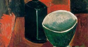 Пабло Пикассо «Зеленая миска и черная бутылка»