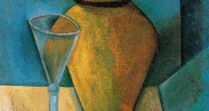 Пабло Пикассо «Горшок, бокал и книга»