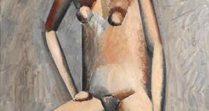 Пабло Пикассо «Сидящая обнаженная»