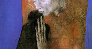 Пабло Пикассо «Женщина с вороном»